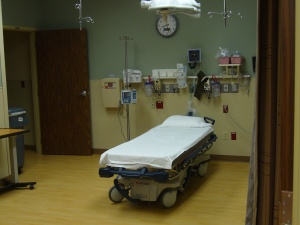 A view of the new emergency room